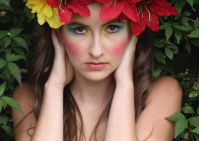 Floral. Model; Kiana. Photgrapher; Elizabeth Davis.
