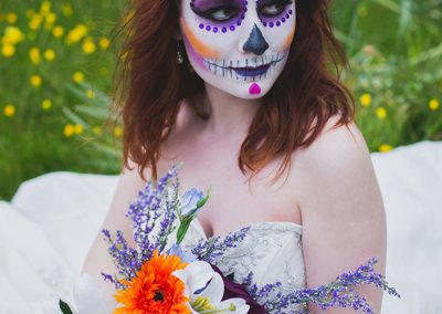 Sugar Skull Bride. Model; Evie Snow. Photographer; Sharmaine Sepehr